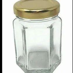 400 Ml Hexagonal Glass Jar