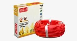 SSICAB FR PVC 10.0 Sqmm Red 90 Mtr Wire
