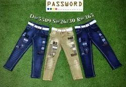Kids Slim Fit Stretchable Denim Jeans