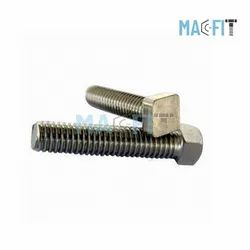 6 Mm Upto 200 Mm Alloy 20 Square Head Bolt, Size: 10 Mm Upto 3000 Mm