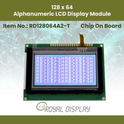 128x64 FSTN LCD Module with Touch Panel