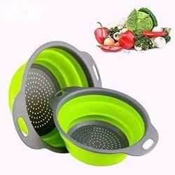 Multicolor Silicone Round Kitchen Strainer (1 Pcs) (RKS), For Home