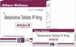 Betahistine Tablets IP 8mg