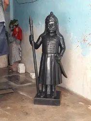 Black Maharana Pratap Marble Statue, For Decoration, Size: 36 Inches