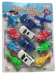 Plastic Mt Mini Pull Back Racing Toys Set, Child Age Group: Age 3+ Years