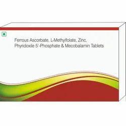 Ferrous Ascorbate, L-methylfoalte, Zinc, Phyridoxile 5'- Phosphate & Mecobalamin Tablets