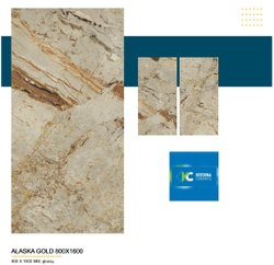 Tiles Cream 32x64 Glossy Alaska Gold (800 x 1600Mm), Thickness: 14 - 19Mm, Size/Dimension: 800 - 1600Mm
