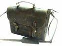 Crunch Leather Briefcase Shoulder Bag