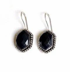 Black Onyx Gemstone Designer Earrings