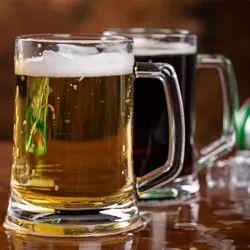 Big Beer Mug Glasses, Set of 2, 360 Ml Each (QZB06-300)