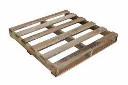 Rectangular 4 Way Hardwood Packaging Pallet, Capacity: 200kg
