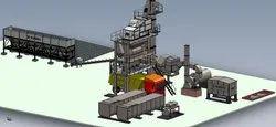 FAB-1300-DM-50 Asphalt Batch Mix Plant With Tower