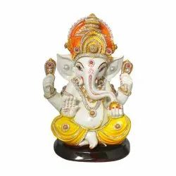 Lord Ganesha Polyresin  Statue With Decorative Jewellery