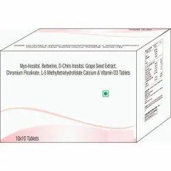 Myo-inositol, Berberine, D- Chiro Inositol, Calcium & Vitamin D3 Tablet