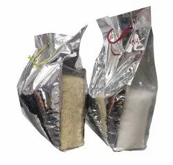 5 Kg Plain Laminated Gusseted Poly Bags With Dori