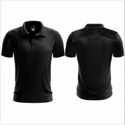Plain Polyester Sports T Shirts, Size: Large