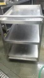 Stainless Steel Masala Trolley  with 2 U/S