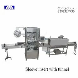 Shrink Sleeve inserting with Shrink tunnel