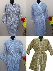 Cotton Print Hand Block 40' Print Kimono