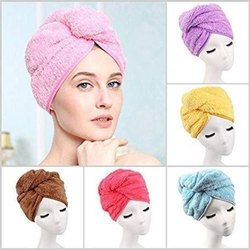 Microfiber Plain HAIR WRAP TOWEL, For Bathroom, Size: Queen