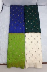 Raw Silk Embroidery Fabric