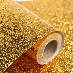 All Day Mart 5 M Aluminium Foil Sticker Roll Golden For Kitchen Walls Cabinets Drawers And Shelves