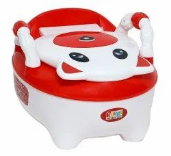 Red Colored Baby Potty Seat With Armrest