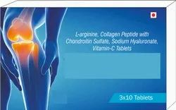 L- Arginine, Collagen Peptide With Chondroitin Sulfate, Sodium Hyaluronate, Vitmain-c Tablets