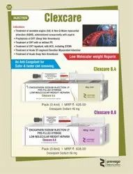 Clexcare 0.6 Enoxaparin Injection 60 mg/0.6 ml