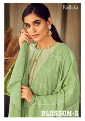 Azara Radhika Blossom Vol 2 Cotton Print With Work Dress Material Catalog