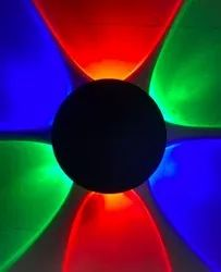 Red,Green and Blue Wall Mounted 6 Way Round Elevation Light, For Indoor Decoration