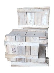 Rectangular White Rubber Wood Packaging Box, For Shipping, Capacity: 150kg