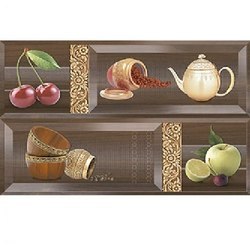 Ceramic Glossy 300 x 450mm Printed Kitchen Wall Tile, Packaging Type: Carton, Thickness: 10 mm