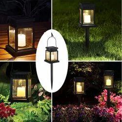 Solar Lantern Candle 2 In1 LED Garden Light, For Garden, Pathways