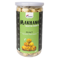 Cosmos Makhano (Roasted Foxnut) - Flavor - Mint - 60gm - Roasted Makhana Healthy Snack