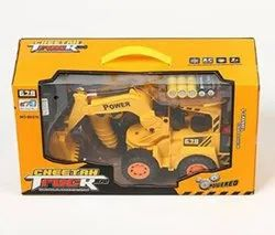 Yellow Plastic Mickleys Remote Controlled JCB Truck For Kids