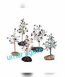 Gemstone Wire Tree For Decoration