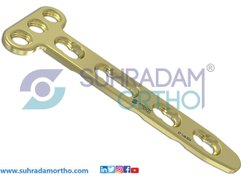 2.4/2.7mm LCP T Dorsal Distal Radius Locking Plate 3 Hole Head