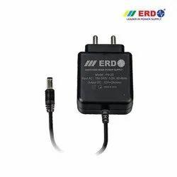 Black ABS Plastic Erd 12v 2amp Adapter, For CCTV Camera