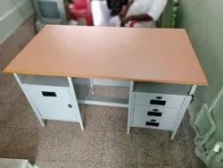 Polished 3 Drawer Mild Steel Table, For Office, Size: 4x2 Ft