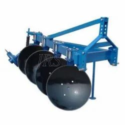 Orange Spray Printed Mounting Disc Plough with 4 Bottom Disc