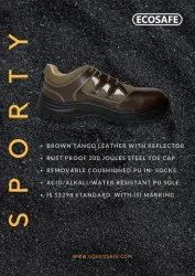 ECOSAFE SPORTY BROWN SAFETY SHOES