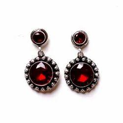 Garnet Gemstone Designer Earrings