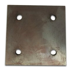Mild Steel 4 Hole Base Plate, For Industries, Size: 6 X 6 Mm