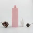 250ml Pink Square Plastic Pet Sprayer Lotion Cosmetic Bottle