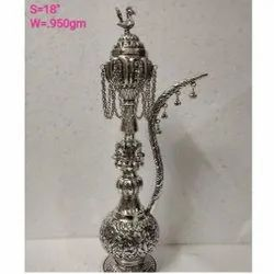Metal Silver Plated Hookah For Home Decoration & Corporate Gift