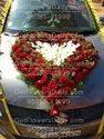Mix Colour Weeding Heart Shaped Car Decorations, In Bangalore, Delhi