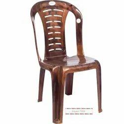 Brown Plastic Armless Chair