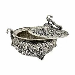 Antique Silver Plated Bowl For Corporate Gift