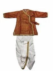 Red And White Jari Kasab Kids Krishna Fancy Dress
